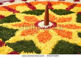flower bed decoration seamless floral pattern stock photo
