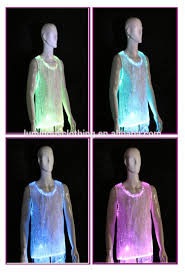 Light Purple Tank Top Luminous Led Light Up Fiber Optic Fashion Men U0027s Dance Tank Top