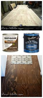 diy stained plywood flooring use your subfloor as flooring tiny