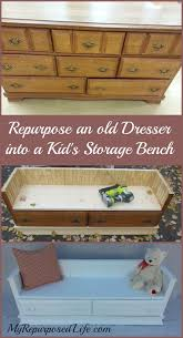 Bench Made From Old Dresser 13 Awesome Diy Repurposed Dresser Project Ideas
