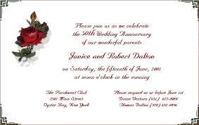 wedding anniversary invitation wording sles iidaemilia