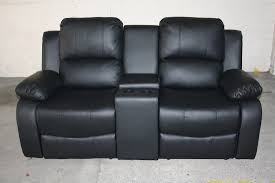Black Leather Recliner Living Room Valencia Black Bonded Leather Recliner Sofa Seater