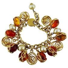 charm bracelet gold vintage images Yves saint laurent ysl vintage charm bracelet for sale at 1stdibs jpg