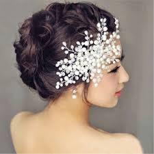hair fascinator bridal wedding diamante hair comb clip slide