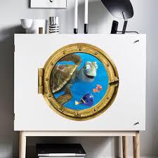 Tortoise Home Decor Aliexpress Com Buy Ocean View Tortoise Fish 3d Wall Sticker
