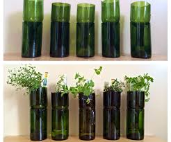 inside herb garden upcycled wine bottles into indoor herb planters 3 steps with