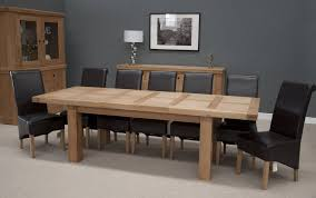 oak dining room set solid oak dining table and 8 chairs home furniture ideas