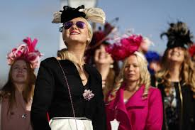 cheltenham ladies day 2017 zesty dresses and feathered headpieces