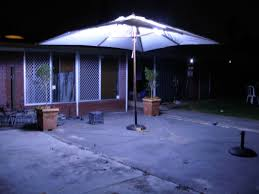led outdoor umbrella lighting 4 steps with pictures