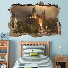Harry Potter Decor by Hogwarts Harry Potter Smashed Wall Decal Removable Wall Sticker