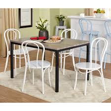 Black And White Dining Room Chairs by Jaxx Collection Dining Table Black Gray Walmart Com
