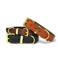 classic leather dog collar by annrees notonthehighstreet com