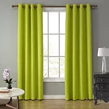 Lime Green Blackout Curtains Amazon Com Lohascasa Elegance Lightweight Blackout Curtains