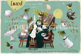 tweeny witches shabby chic spring tea party by happy pike thehungryjpeg com
