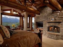 fireplace bedroom 38 rustic country cabins with a stone fireplace for a romantic get