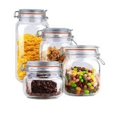 kitchen glass canisters glass kitchen canisters jars