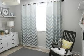 Pink Curtains For Nursery by Ombre Chevron Curtains In Boys Nursery