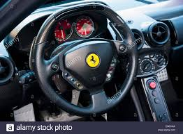the steering wheel of a enzo stock photo royalty free