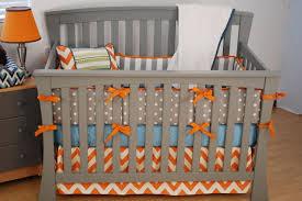 Gray And White Chevron Crib Bedding Orange Chevron Nursery Bedding Grey Crib Hedgehog Nursery
