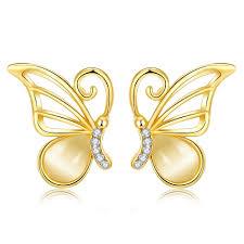 butterfly design gold earrings butterfly design gold earrings