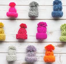 diy ornaments tiny yarn hats winter birthday yarns and ornament
