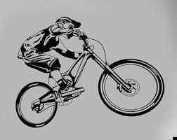 Cycling Home Decor Wall Vinyl Decal Mountain Bike Sports Biking Bmx Bicycle