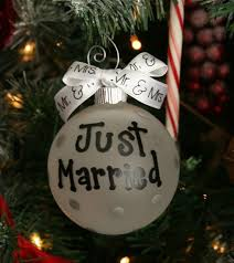 just married ornament just married mr and mrs ornament
