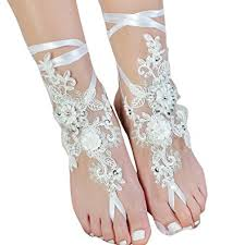 barefoot sandals wedding lace barefoot sandals wedding anklet