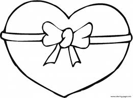 printable ribbon ribbon heart s2f39 coloring pages printable new page