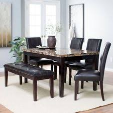 Dining Room Table Sets Leather Chairs by Marble Dining Room Set Ebay
