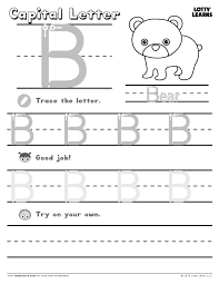 lowercase letter b lotty learns