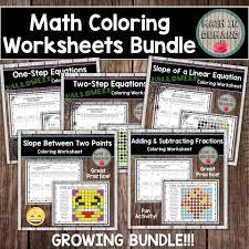 the best of teacher entrepreneurs iii math coloring worksheets bundle