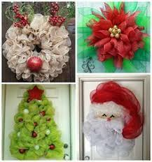 deco mesh christmas wreath ideas to make wreath