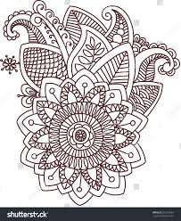 vector ethnic mehndi pattern template mehndi stock vector