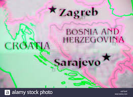 Map Of Southeastern Europe by Close Up Map Of The Countries Bosnia Herzegovina And Croatia