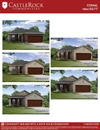 comal cobalt home plan by castlerock communities in cantarra