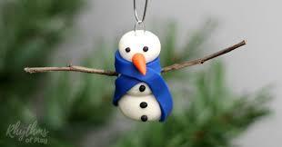 diy polymer clay snowman ornament rhythms of play