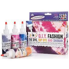 3 in 1 diy fashion kit tie dye dip dye u0026 shibori amazon co uk