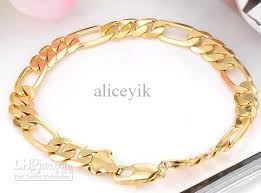 gold chain charm bracelet images D157 18k gold plated ring boy chain charm bracelet girl man woman jpg