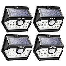 mpow solar light instructions mpow solar lights outdoor bright 20 led wide angle motion sensor