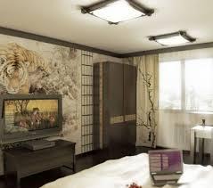 chambre ado stylé déco chambre ado style japonais papier peint tigre des idées de