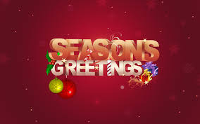 happy season greetings with ballons and