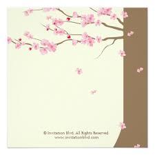Cherry Blossom Wedding Invitations Love Birds Vintage Cage Cherry Blossom Wedding Square Paper