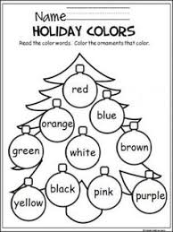 december preschool worksheets preschool worksheets color by