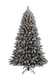 fairbanks flocked pre lit christmas tree christmas tree market
