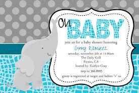 baby elephant for baby shower cimvitation