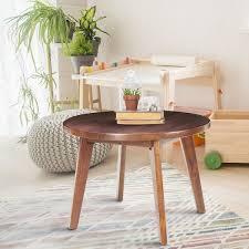 24 round decorator table american trails mid century modern round genuine walnut 24 inch