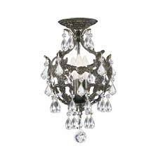 flush mount mini crystal chandelier bellacor