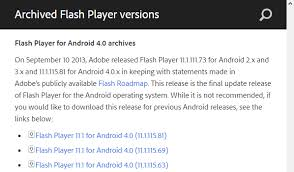 adobe flash player 11 1 for android how to resolve this plugin is not supported on android tech help