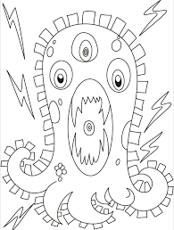 monster furious electric current coloring
